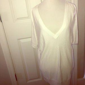 Michael Kors lightweight white cold shoulder top